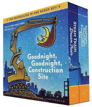 Goodnight, Goodnight, Construction Site and Steam Train, Dream Train Set