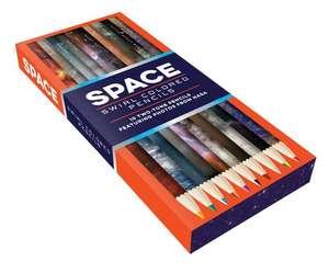 Space Swirl Colored Pencils de Chronicle Books