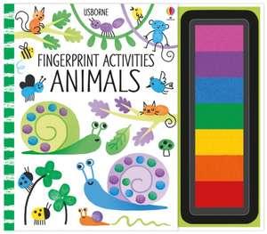 Fingerprint Activities Animals de Fiona Watt