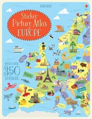 Sticker Picture Atlas of Europe de Jonathan Melmoth