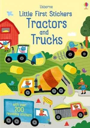 Little First Stickers Tractors and Trucks imagine