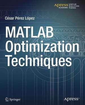 MATLAB Optimization Techniques de Cesar Lopez