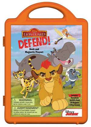 The Lion Guard Lion Guard, Defend!: Book and Magnetic Playset de Disney Book Group
