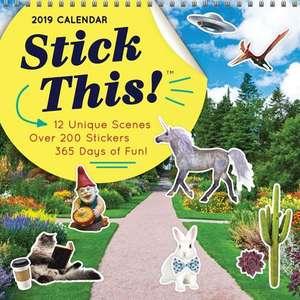 2019 Stick This!(tm) Wall Calendar de Sourcebooks