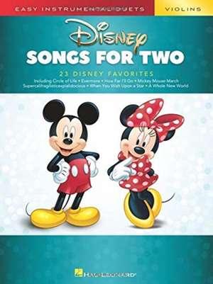 Disney Songs for Two Violins: Easy Instrumental Duets de  Hal Leonard Corp