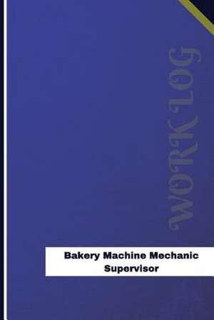 Bakery Machine Mechanic Supervisor Work Log de Logs, Orange
