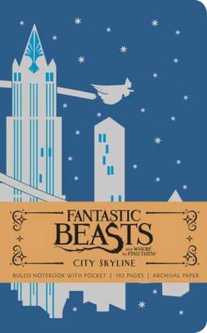 FANTASTIC BEASTS AND WHERE TO FIND THEM: CITY SKYLINE HARDCOVER RULED NOTEBOOK de INSIGHT EDITIONS