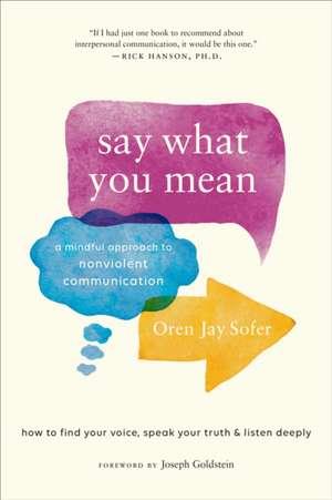 Say What You Mean de Oren J. Sofer