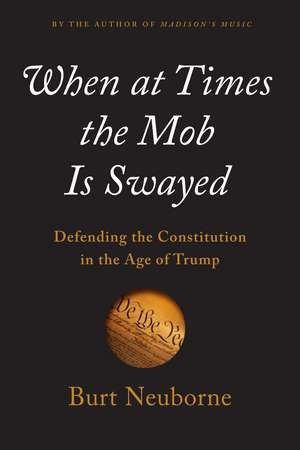 When At Times The Mob Is Swayed: A Citizen's Guide to Defending Our Republic de Burt Neuborne