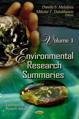 Environmental Research Summaries de Danila S. Melekhin