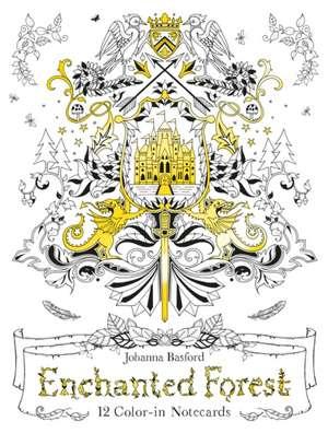Basford, J: Enchanted Forest: 12 Colour-in Notecards de Johanna Basford