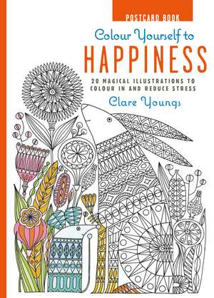 Colour Yourself to Happiness Postcard Book