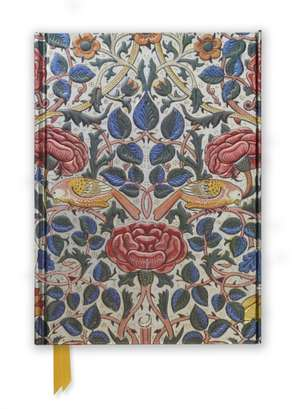 William Morris: Rose (Foiled Journal) de Flame Tree Studio