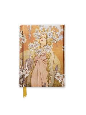 Alphonse Mucha The Flowers: Lily (Foiled Pocket Journal) de Flame Tree Studio