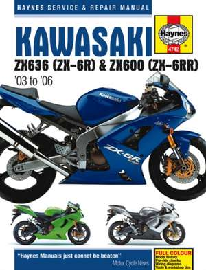 Kawasaki Zx636 (ZX-6r) & ZX600 (ZX-6rr) '03 to '06:  The Reckoning de Haynes