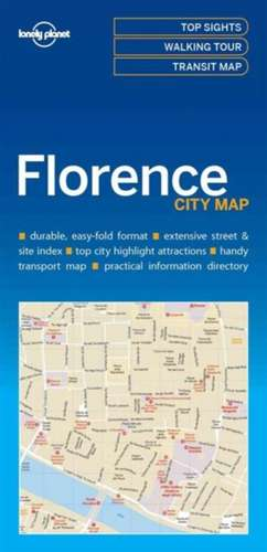 Lonely Planet Florencecity Map de Lonely Planet