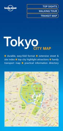 Lonely Planet Tokyocity Map de Lonely Planet