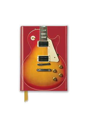 Gibson Les Paul Guitar, Sunburst Red (Foiled Pocket Journal) de Flame Tree Studio