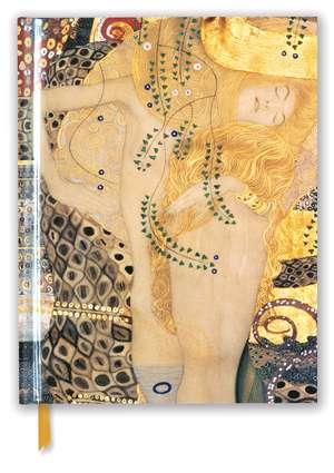 Gustav Klimt: Water Serpents I (Blank Sketch Book) de Flame Tree Studio
