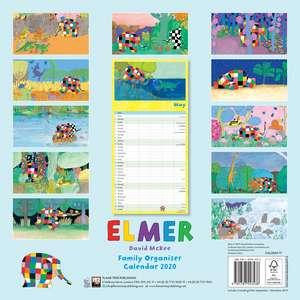 Elmer Family Organiser Wall Calendar 2020 (Art Calendar) de Flame Tree Studio