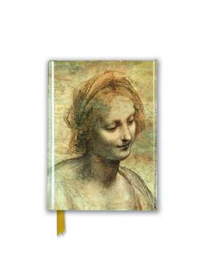 Leonardo Da Vinci: Detail of the Head of the Virgin (Foiled Pocket Journal) de Flame Tree Studio