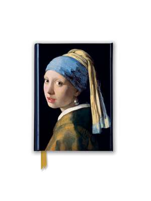 Johannes Vermeer: Girl With a Pearl Earring (Foiled Pocket Journal) de Flame Tree Studio