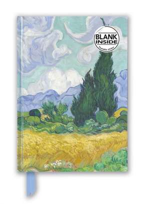 Vincent van Gogh: Wheat Field with Cypresses (Foiled Blank Journal) de Flame Tree Studio