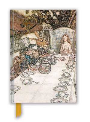 Arthur Rackham: Alice In Wonderland Tea Party (Foiled Blank Journal) de Flame Tree Studio