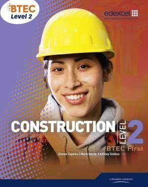 BTEC Level 2 First Construction Student Book de Simon Topliss