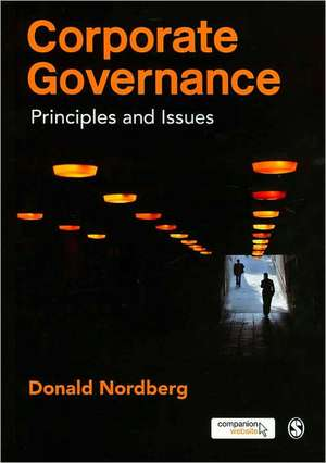 Corporate Governance: Principles and Issues de Donald Nordberg