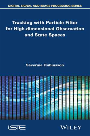 Tracking with Particle Filter for High–dimensional Observation and State Spaces