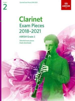 Clarinet Exam Pieces 2018-2021, ABRSM Grade 2 imagine