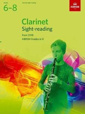 Clarinet Sight-Reading Tests, ABRSM Grades 6-8 imagine