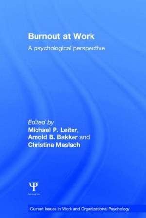 Burnout at Work: A Psychological Perspective de Michael P. Leiter
