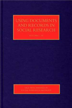 Using Documents and Records in Social Research de Lindsay Prior