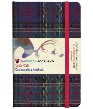 Hunting Tartan: Pocket: 14 x 9cm: Waverley Genuine Tartan Cloth Commonplace Notebook