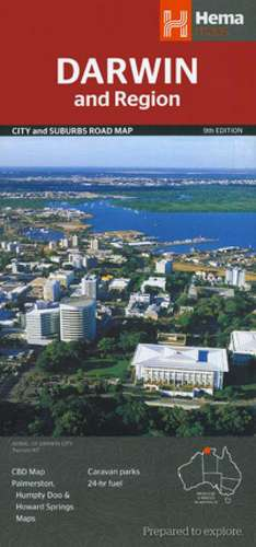 Darwin and Region City and Suburbs Road Map 1 : 25 000