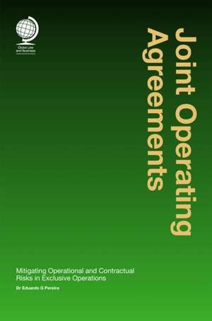 Joint Operating Agreements de Eduardo G. Pereira