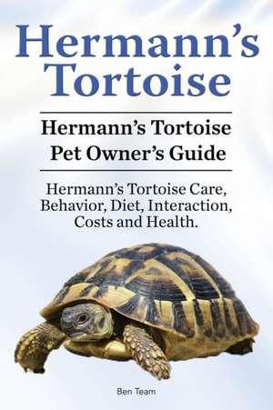 Hermann's Tortoise Owner's Guide. Hermann's Tortoise book for Diet, Costs, Care, Diet, Health, Behavior and Interaction. Hermann's Tortoise Pet. de Ben Team