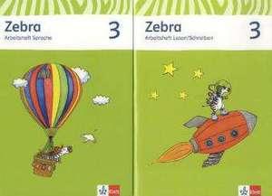 Zebra. Neubearbeitung. Paket (Arbeitsheft Sprache und Arbeitsheft Lesen und Schreiben) 3. Schuljahr