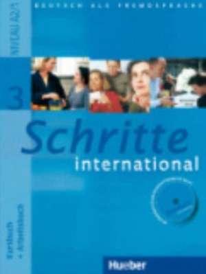 Schritte international 3. Kursbuch + Arbeitsbuch mit Audio-CD zum Arbeitsbuch und interaktiven UEbungen