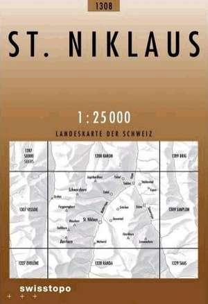 Swisstopo 1 : 25 000 St. Niklaus