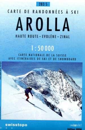 Swisstopo 1 : 50 000 Arolla Ski