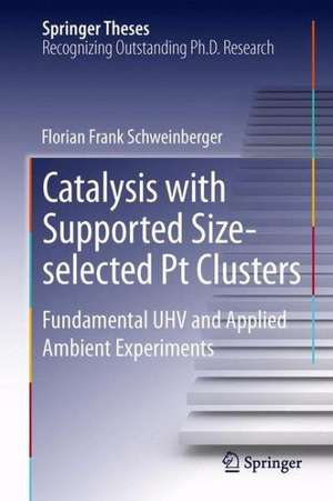 Catalysis with Supported Size-selected Pt Clusters: Fundamental UHV and Applied Ambient Experiments de Florian Frank Schweinberger