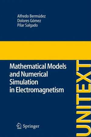 Mathematical Models and Numerical Simulation in Electromagnetism de Alfredo Bermúdez de Castro