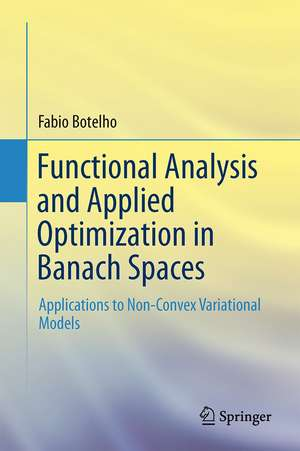 Functional Analysis and Applied Optimization in Banach Spaces: Applications to Non-Convex Variational Models de Fabio Botelho