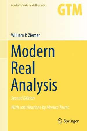 Modern Real Analysis de William P. Ziemer