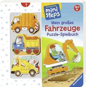 Mein großes Fahrzeuge Puzzle-Spielbuch de Sabine Cuno