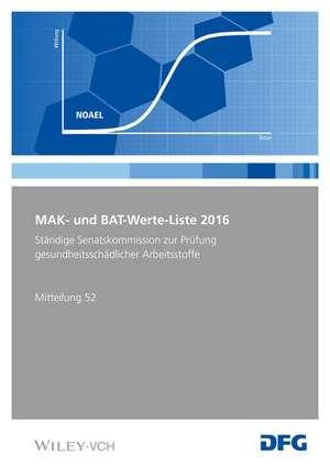MAK– und BAT–Werte–Liste 2016