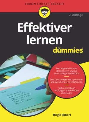 Effektiver Lernen für Dummies de Birgit Ebbert